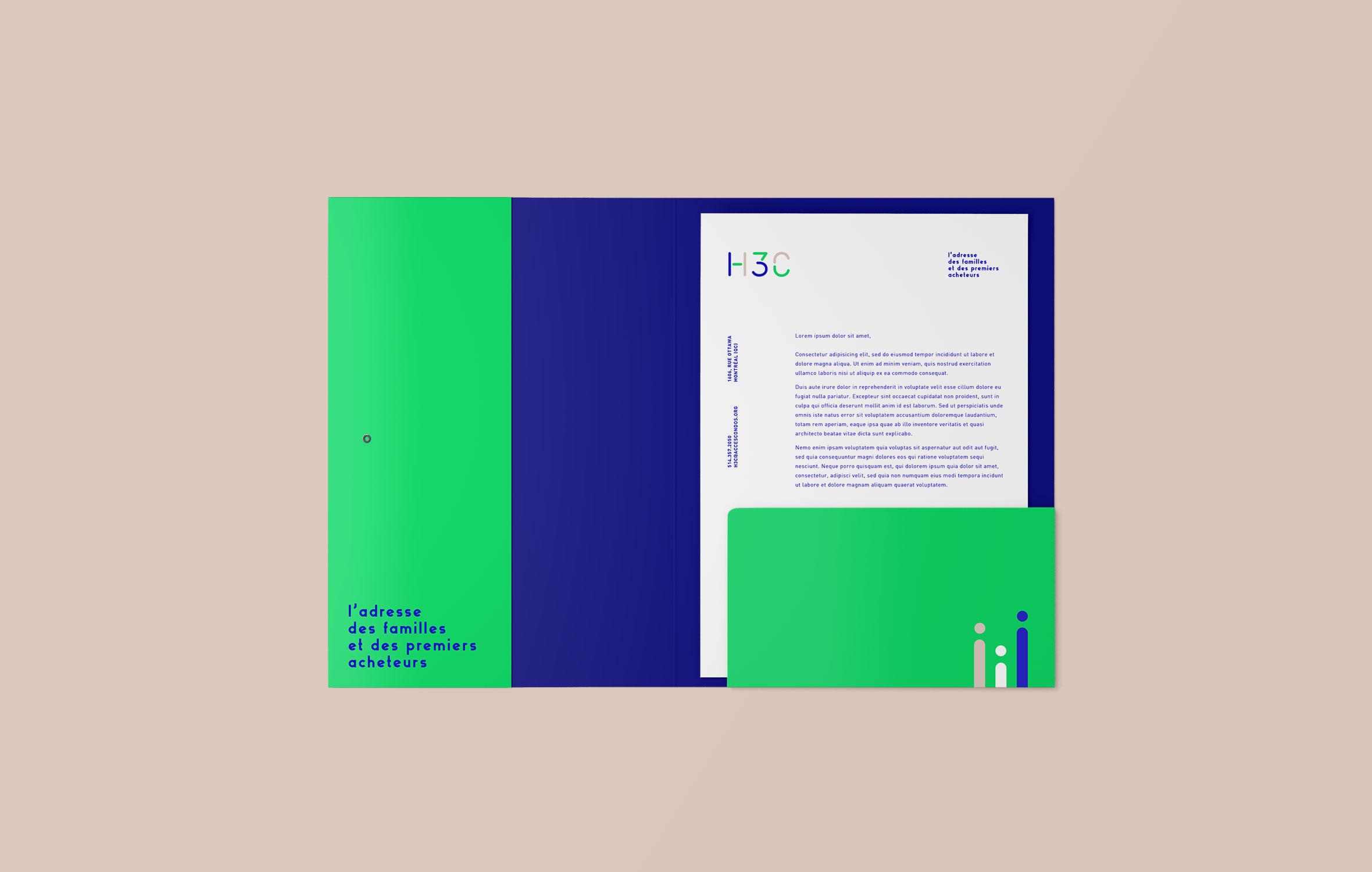 H3C - Projet immobilier - papeterie - Bivouac Studio