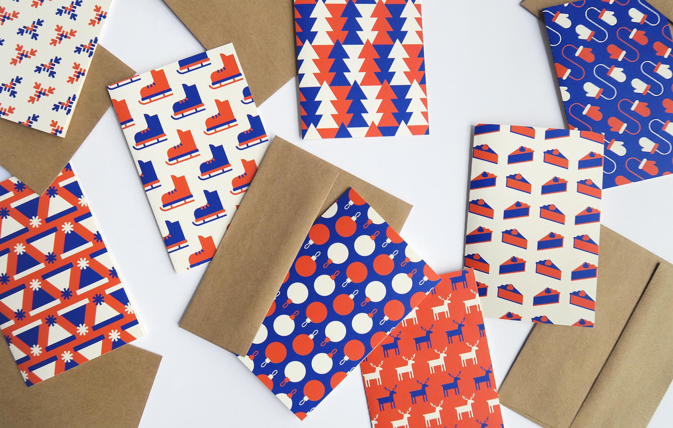 Autopromotion de Bivouac Studio - Cartes de Noël vierge pour cadeau clients