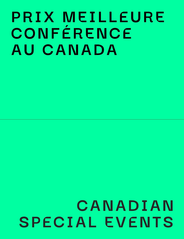 Prix Meilleure Conférence au Canada - Canadian Special Events